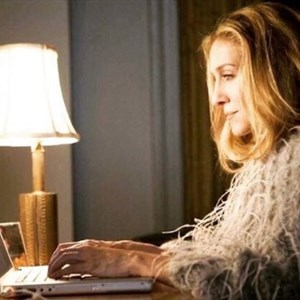 carrie bradshaw typing