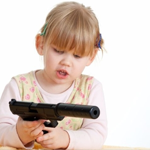 Baby with gun
