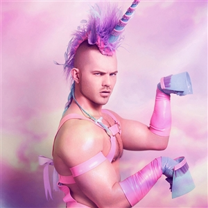 pink unicorn man