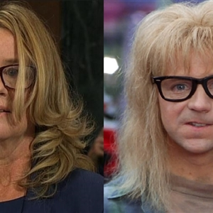 *Breaking News* .. Christine Blasey Ford is actually Garth from Wayne's World