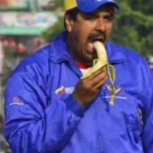Nicolas Maduro Eating A Banana