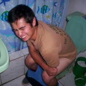 Mexican Man Pooping In The Toilet
