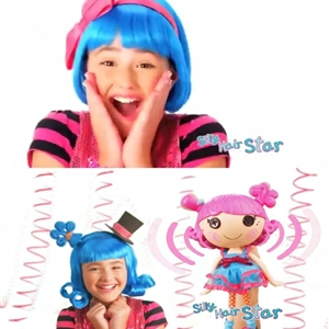 Lalaloopsy Harmony B. Sharp Excited, Surprised & Smiling Girl With Hotty Blue Wig