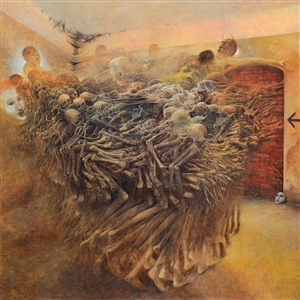 Untitled Zdzislaw Beksinski Painting