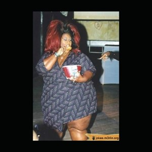 fat black woman