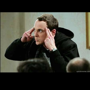 Concentrating Sheldon Cooper