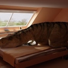 T Rex Makes Bed