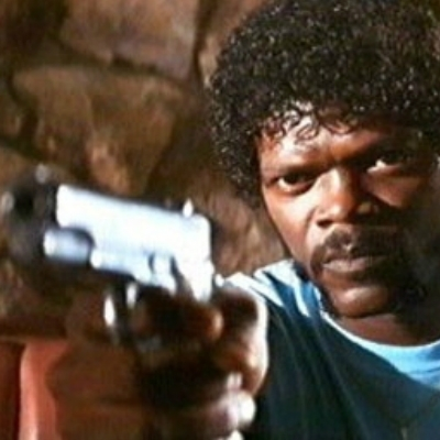 samuel jackson with a gun