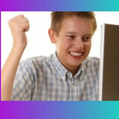 first time internet-kid