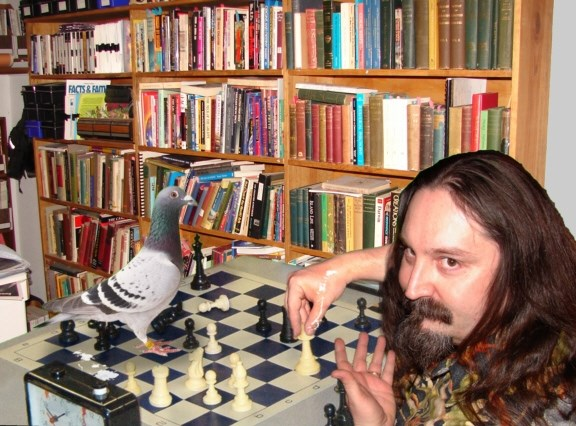 Playing chess with pigeons
