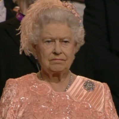 Queen Elizabeth Is Not Impressed