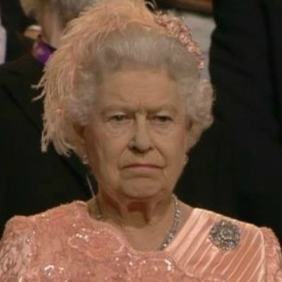 Unimpressed Queen Elizabeth