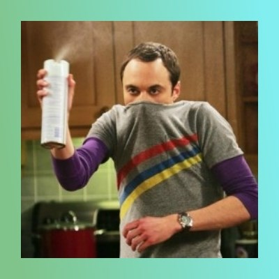 Sheldon Cooper spray can