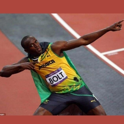 USAIN BOLT POINTING