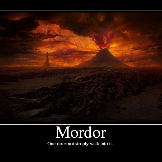 Lord Of The Rings Boromir One Does Not Simply Mordor