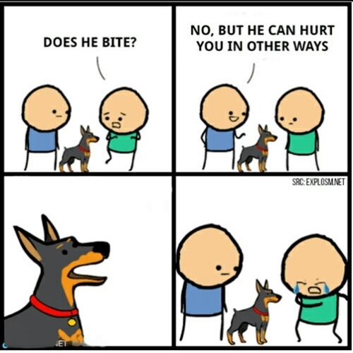 hurt in other ways hurt in other ways meme generator,Does Your Dog Bite Meme
