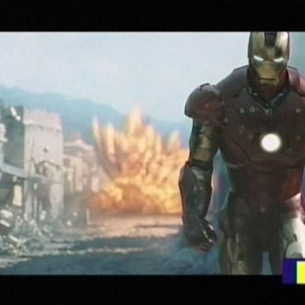Iron man walks away