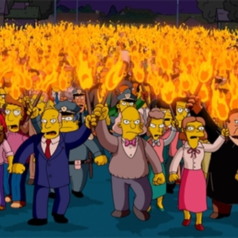simpsons anger mob