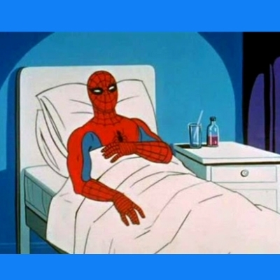 spiderman sick