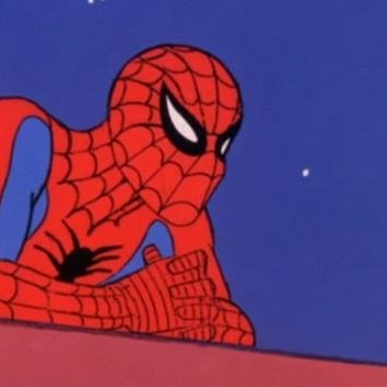 Leaning Spiderman