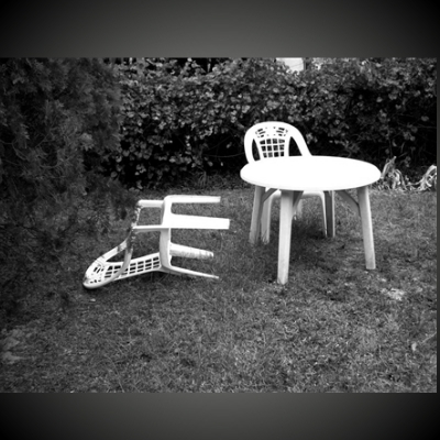 Chair Blown Over
