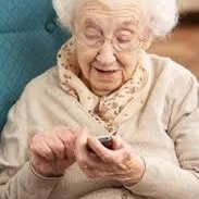 old womanphone