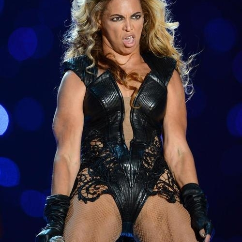 Beyonce SuperBowl face