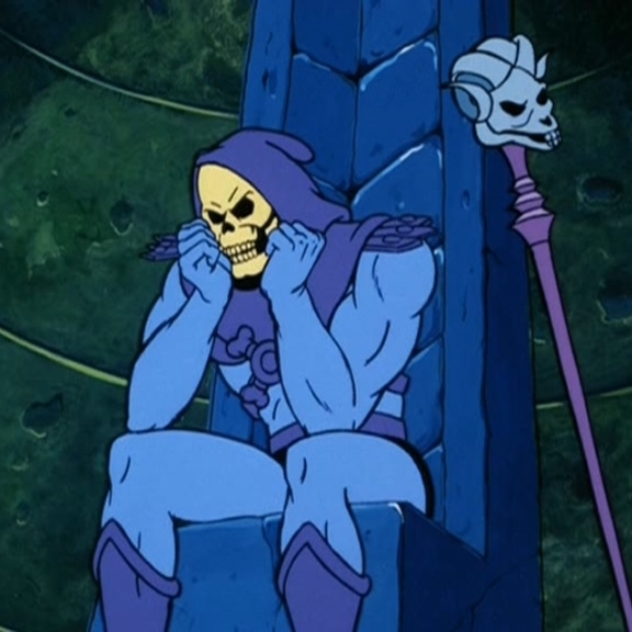 Skeletor sitting