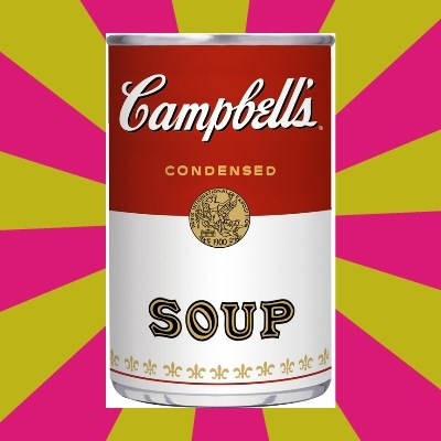 College Campbells Soup Can