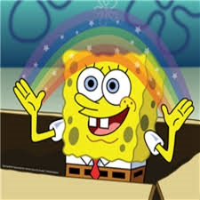 spongebob and rainbows