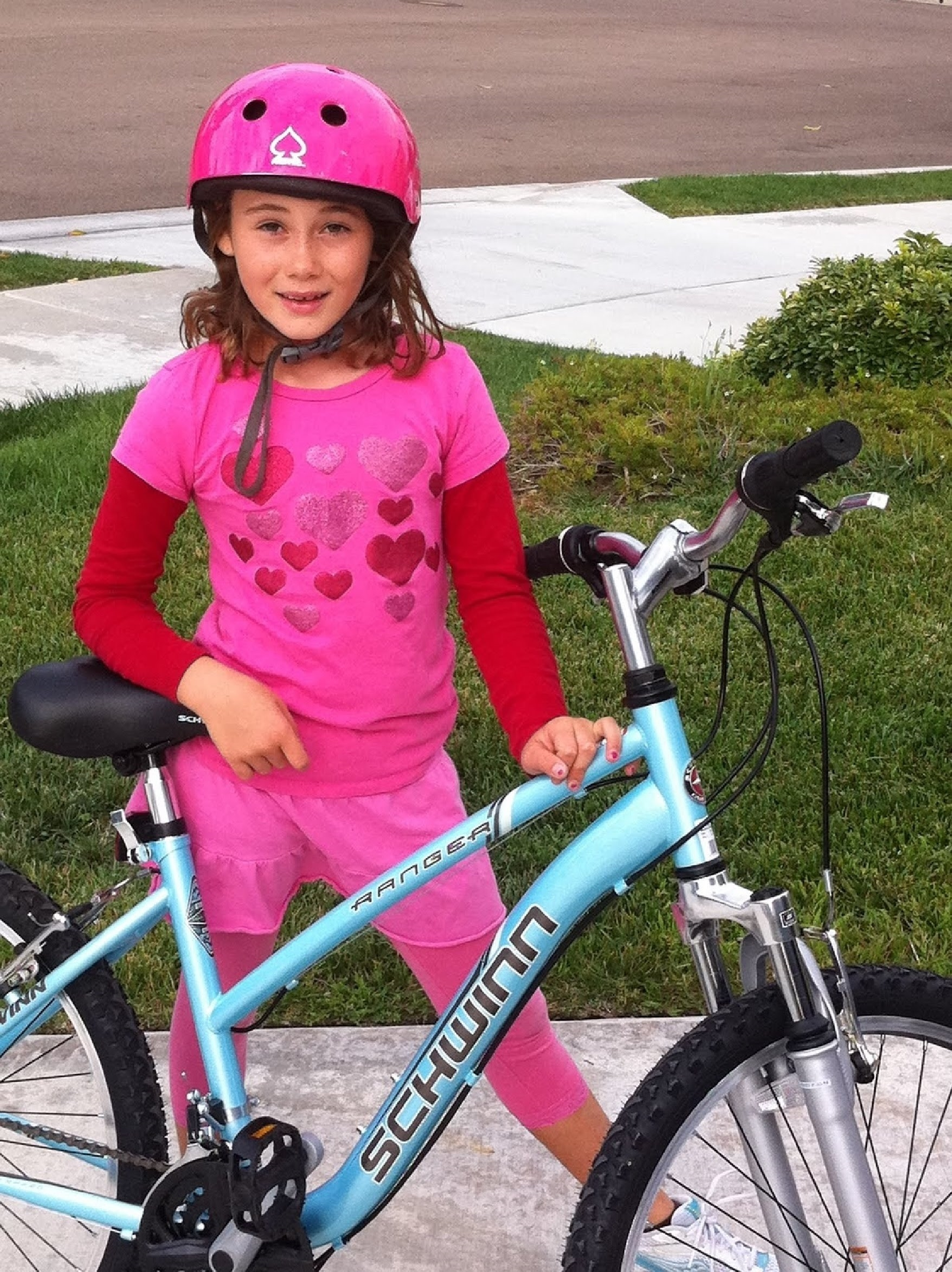 Capri With Her Bike