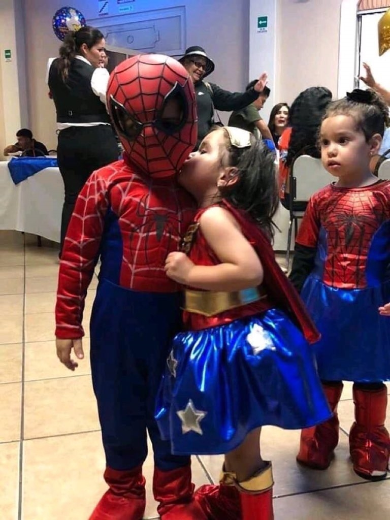 Spiderkid and wondergirl