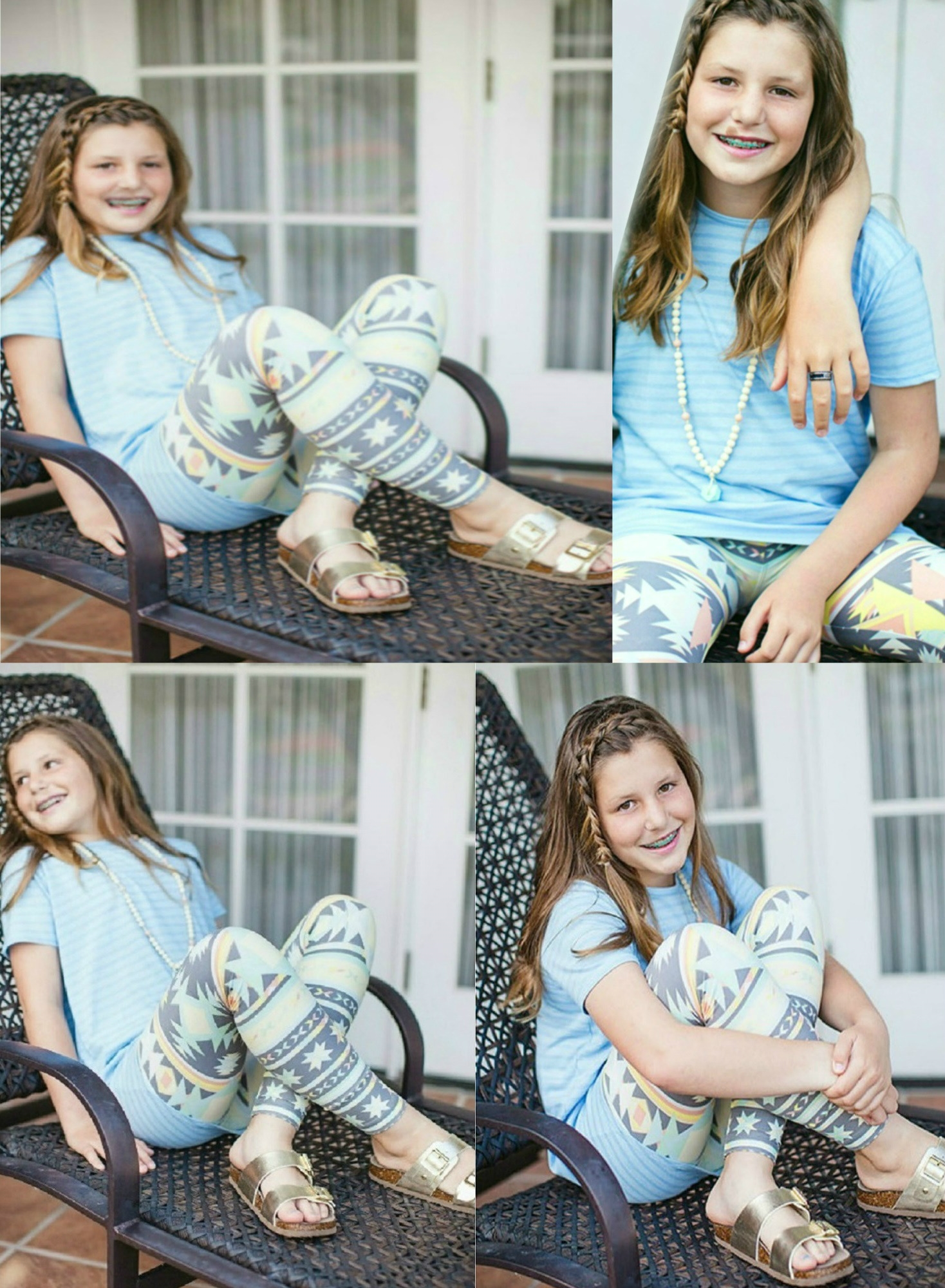 Cute Young Girl Smiling With Lularoe Leggings