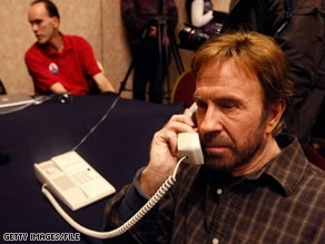 Chuck Norris on Phone