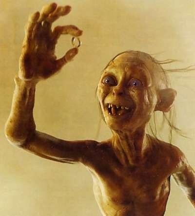 Gollum with ring