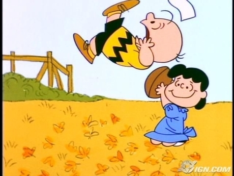 Charlie Brown Tries to Kick the Football