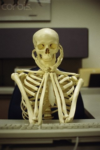 Skeleton waiting