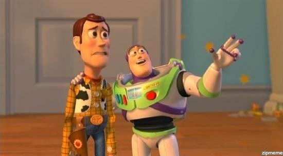 buzz and woody well