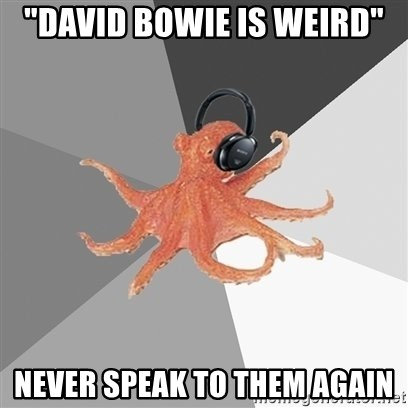 "Music Nerd Octopus - ""david bowie is weird"" never speak to them again"
