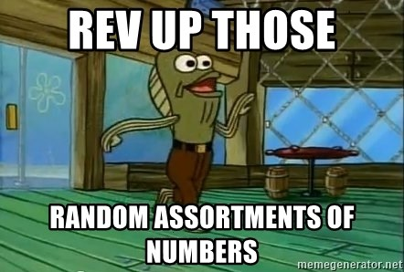 Rev Up Those Fryers - REV UP THOSE RANDOM ASSORTMENTS OF NUMBERS