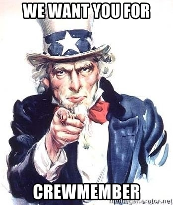 Uncle Sam - We want you for Crewmember