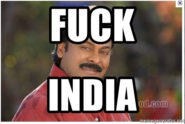 Typical Indian guy - fuck india