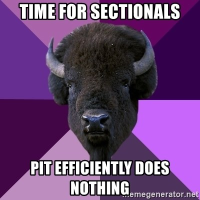 Fuck Yeah Band Buffalo - time for sectionals pit efficiently does nothing