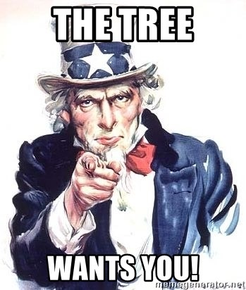 Uncle Sam - the tree wants you!