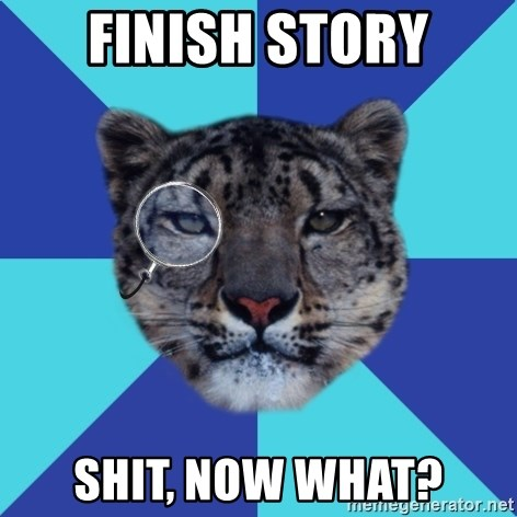Writer Leopard - finish story shit, now what?