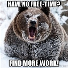 Cocaine Bear - Have no FREE-time? Find more work!