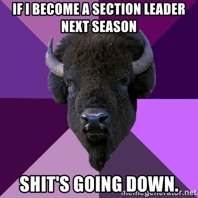 Fuck Yeah Band Buffalo - if i become a section leader next season shit's going down.
