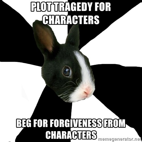 Roleplaying Rabbit - Plot tragedy for characters Beg for forgiveness from characters