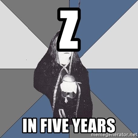 Black Metal Sword Kid - z in five years