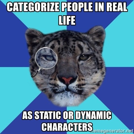 Writer Leopard - categorize people in real life as static or dynamic characters